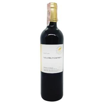 Вино Chateau Fleur Haut Gaussens Bordeaux Superieur красное сухое 13,5% 0,75л