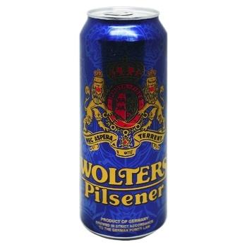 Wolters Pilsener light beer 4,9% 0,5l