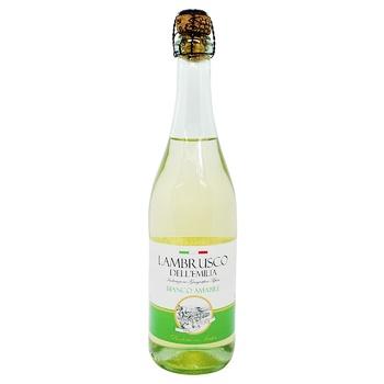 Vini D`Italia Lambrusco Bianco Amabile Dell`Emilia white sparkling wine 8% 0,75l