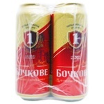 Пиво Перша приватна броварня Бочкове 4,8% ж/б  4штХ0,5л