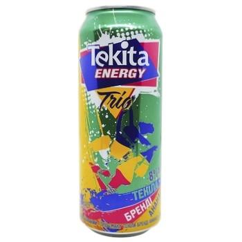 Напиток слабоалкогольный Tecita Energy Trio Текила-Бренди-Ананас з/б 8% 0,5л