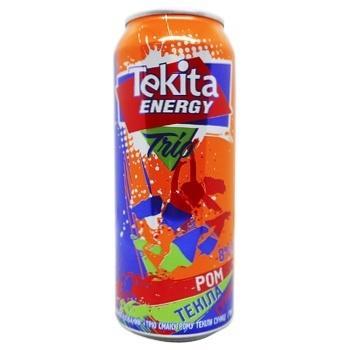 Tecita Energy Trio Rum-Tequila-Strawberry Low-Alcohol Drink Can 8% 0,5l