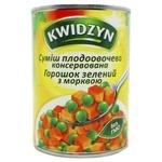 Смесь из горошка и моркови Kwidzyn 400г