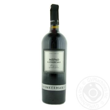 Inkerman Merlot Kachynske Red Dry Wine 14% 0.75l