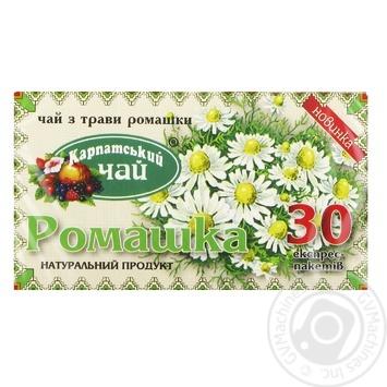 Чай Карпатский чай Ромашка 30шт 1г - купить, цены на Novus - фото 1