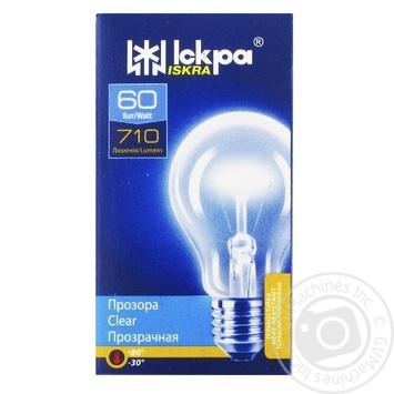 Лампа Искра А50 60Вт Е27 - купить, цены на Novus - фото 1