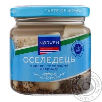 Оселедець Norven у кисло-солодкому маринаді 190г - купити, ціни на МегаМаркет - фото 1