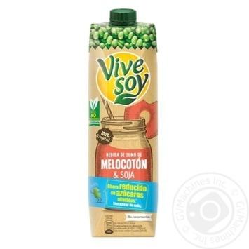 Напиток соевый Vive Soy с соком персика 1л - купить, цены на Novus - фото 1
