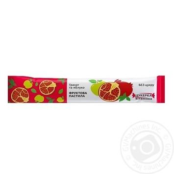 Пастила фруктовая Гранат и яблоко 15г - купить, цены на Novus - фото 1
