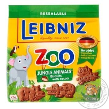 Leibniz Zoo Jungle Animals Cookies 100g - buy, prices for Novus - image 1