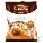 Цукерки Vergani Chocаo з кремовою начинкою зі смаком карамелі в молочному шоколаді 125г - купити, ціни на Novus - фото 1