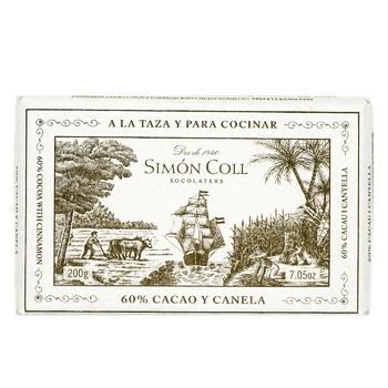 Шоколад Simon Coll с корицей 60% 200г