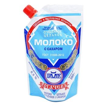 Молоко згущене Рогачів незбиране з цукром 8.5% 280г