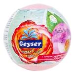 Бомба Geyser Sparkling Rose для ванн с капсулой эфирного масла 140г
