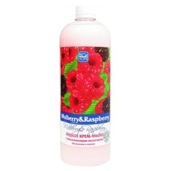 Soap Liquid Cream Mulberry and Raspberry with Moisturizing Milk 1l