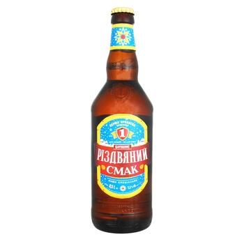 Пиво Перша приватна броварня Бочковое Рождественский вкус темное фильтрованное 5,2% 0,5л