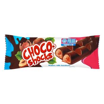 Вафли Полюс Choco-shocks орех фундук 40г