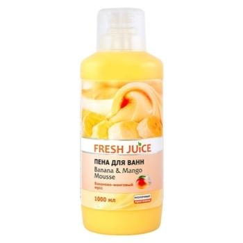 Пена для ванны Fresh Juice Banana&Mango mousse 1000мл