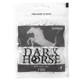 Фильтры Dark Horse Carbon Slim для самокруток 120шт