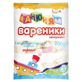 Вареники Laska Ма-ню-ням со сладким творогом 900г - купить, цены на Novus - фото 1