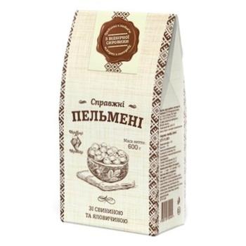 Пельмени Рудь Хуторок Настоящие со свининой и телятиной 600г - купить, цены на Фуршет - фото 1