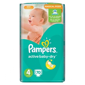 Подгузники Pampers Active Baby 4 9-14кг 70шт