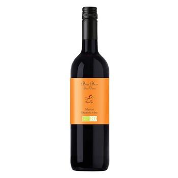 Вино Bio Bio Merlot Organic красное полусухое 13% 0,75л