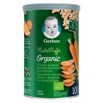 Gerber Organic For Babies From 10 Months Wheat-Oat With Carrot And Orange Snack 35g