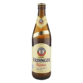 Пиво Erdinger Weissbier светлое нефильтрованное 5,3% 0,5л