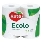 Бумага туалетная Ecolo Deluxe белый трехслойный 4шт