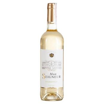 Вино виноградне столове сухе біле натуральне Mon Seigneur Шардоне 11,5%%0,75л