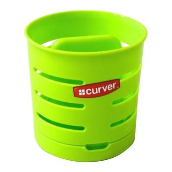 Сушилка для столовых приборов Curver двухкамерная зеленая
