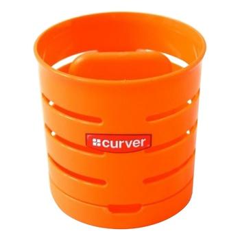 Сушилка для столовых приборов Curver двухкамерная оранжевая