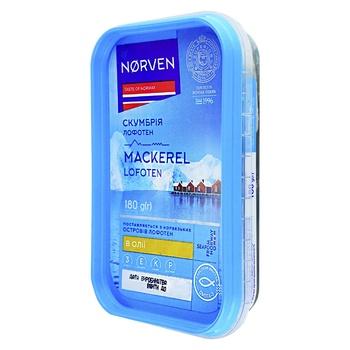 Скумбрия Norven Lofoten в масле кусочки 180г