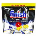 Таблетки для посудомоечных машин Finish Quantum Ultimate Lemon 10шт.