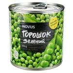 Горошек зеленый Novus консервированный ж/б 410г