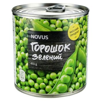 Novus Canned Green Pea Can 410g