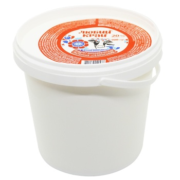 Lyuby Krai Sour Cream Product 20% 900g - buy, prices for Novus - photo 3