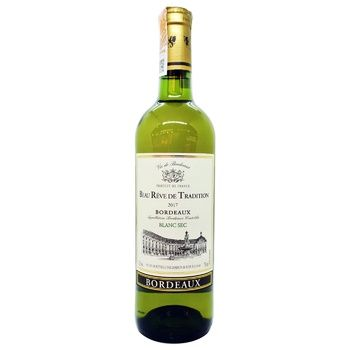 Вино Beau Reve de Tradition Blanc Sec Bordeaux белое сухое 12% 0,75л