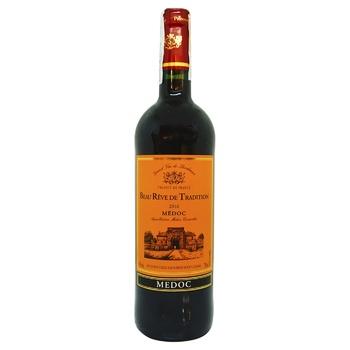 Вино Beau Reve de Tradition Medoc красное сухое 12% 0,75л