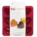 Форма MYS Сердце силиконовая для выпечки кексов 9шт