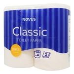 Туалетная бумага Novus Сlassic белая 2-х слойная 4шт