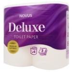 Папір туалетний Novus Deluxe білий 3-х шаровий 4шт