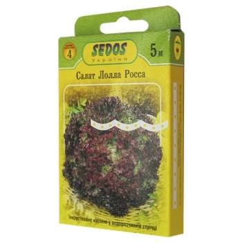 Sedos Lolla Rossa Lettuce Seeds on Ribbon 5m