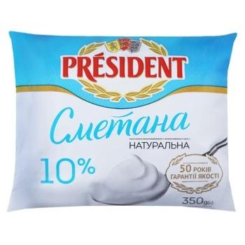 Сметана President 10% 350г - купить, цены на ЕКО Маркет - фото 1