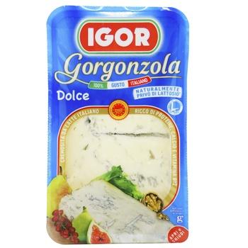 Сыр Игор горгонзола дольче мягкий с голубой плесенью 48% 150г Италия