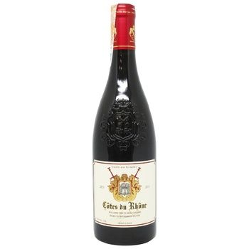 Вино Chatelain Valmont Cotes du Rhone красное сухое 14% 0,75л