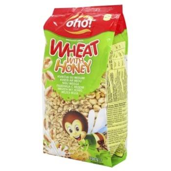 Oho Puffed Wheat Grains with Honey Dry Breakfast 150g