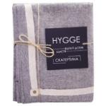 Hygge Black Cotton Table Cloth 132х220cm