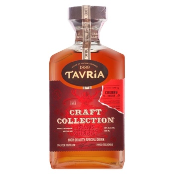 Tavria Craft Collection Black Cherry Alcoholic Drink 30% 0,5l - buy, prices for CityMarket - photo 1